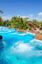 Aqua park open air jacuzzi, Antalya Stock Images
