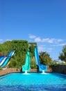 Aqua park water attractions, Antalya Royalty Free Stock Photo