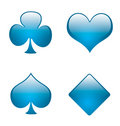 Aqua playing card symbols 01 Royalty Free Stock Images