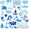 Aqua preview icon blue water on a white background Stock Photo