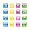 Aqua server icons Royalty Free Stock Photo