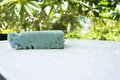 Aqua sponge cleaning car wash Stock Image