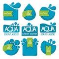 Aqua stickers Royalty Free Stock Photo