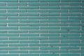 Aqua Tile Bricks with White Grout Texture Royalty Free Stock Photo