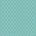 Aqua Vintage Fleur De Lis style flourish pattern Royalty Free Stock Photo
