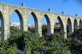 Aquaduct in lisbon the historic portugal Stock Photography