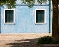 Aquamarine colored house in burano island venice Royalty Free Stock Image