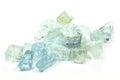 Aquamarine crystals isolated on white background Royalty Free Stock Photos