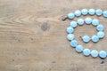 Aquamarine necklace Royalty Free Stock Photo
