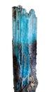 Aquamarine raw crystal on white Royalty Free Stock Image