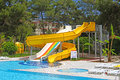 Aquapark slides, Turkey Royalty Free Stock Photo