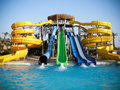Aquapark water slide Royalty Free Stock Images