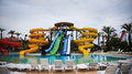 Aquapark water slide Royalty Free Stock Photo