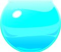 Aquarium blue as a ball Royalty Free Stock Photo