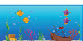 Aquarium fishtank cartoon illustration of an Stock Photos