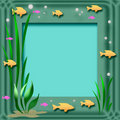 Aquarium frame Stock Photos