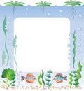 Aquarium frame Royalty Free Stock Image
