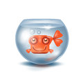Aquarium goldfish authors illustration in vector Royalty Free Stock Image