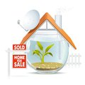 Aquarium home sold Stock Image