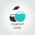 Aquarium and jumping fish, comfort zone concept Royalty Free Stock Photo