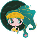 Aquarius fun sized ancient goddess the eleventh astrological sign in the zodiac it's the cute Royalty Free Stock Images