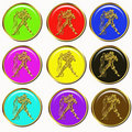 Aquarius horoscope buttons Stock Photography