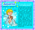 Aquarius Zodiac kid Royalty Free Stock Photo