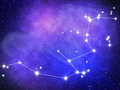 Aquarius zodiac sign bright stars in cosmos Royalty Free Stock Image