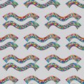 Aquarius zodiac sign seamless pattern. Horoscope magic symbol background. Hand drawn astrological colorful texture for wall Royalty Free Stock Photo