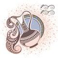 Aquarius. Zodiac sign Royalty Free Stock Photo