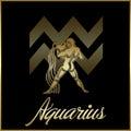 Aquarius zodiac star sign Royalty Free Stock Photo