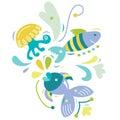 Aquatic Elements Royalty Free Stock Photo