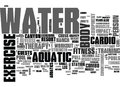 Aquatic Exercise Equipmentword Cloud Royalty Free Stock Photo