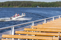 Aquatic, water sports and recreation at the lake. Royalty Free Stock Photo