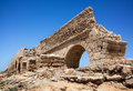 Aqueduct of caesarea by the sea Royalty Free Stock Image
