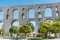 The aqueduct in Kavala Greece Royalty Free Stock Photo