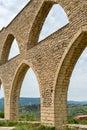 Aqueduct in morella close up of the roman spain Stock Photo