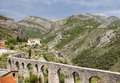 Aqueduct in old bar montenegro ruins of an stary Royalty Free Stock Photography