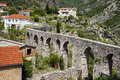 Aqueduct in old bar montenegro ruins of an stary Stock Image