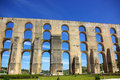 Aqueduct  in old city of Elvas. Royalty Free Stock Photo