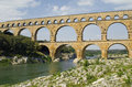 The aqueduct Pont du Gard in South France Royalty Free Stock Photo