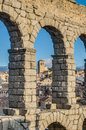 Aqueduct of Segovia at Castile and Leon, Spain Royalty Free Stock Photography