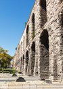 Aqueduct of valens on background blue sky in istanbul turkey Royalty Free Stock Photography