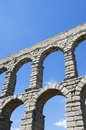 Aqueduct view of the of segovia castilla leon spain Stock Photography