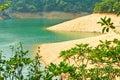 Aqueous rock scenery the photo was taken in upper shing mun reservoir hongkong china Stock Image