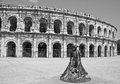 Arènes de nîmes roman amphitheatre in france it is now used as a bullring and concert venue Stock Images