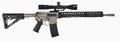 AR15 Rifle with scope and Ni Boron Royalty Free Stock Photo