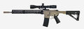 AR15 with scope, 30rd mag and collapsible stock Royalty Free Stock Photo