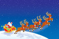 Ar van het opstijgen van de Kerstman Royalty-vrije Stock Foto