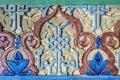 Arab arabesque decoration painted wall plaster Stock Photo